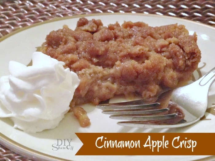 cinnamon apple crisp recipe @diyshowoff