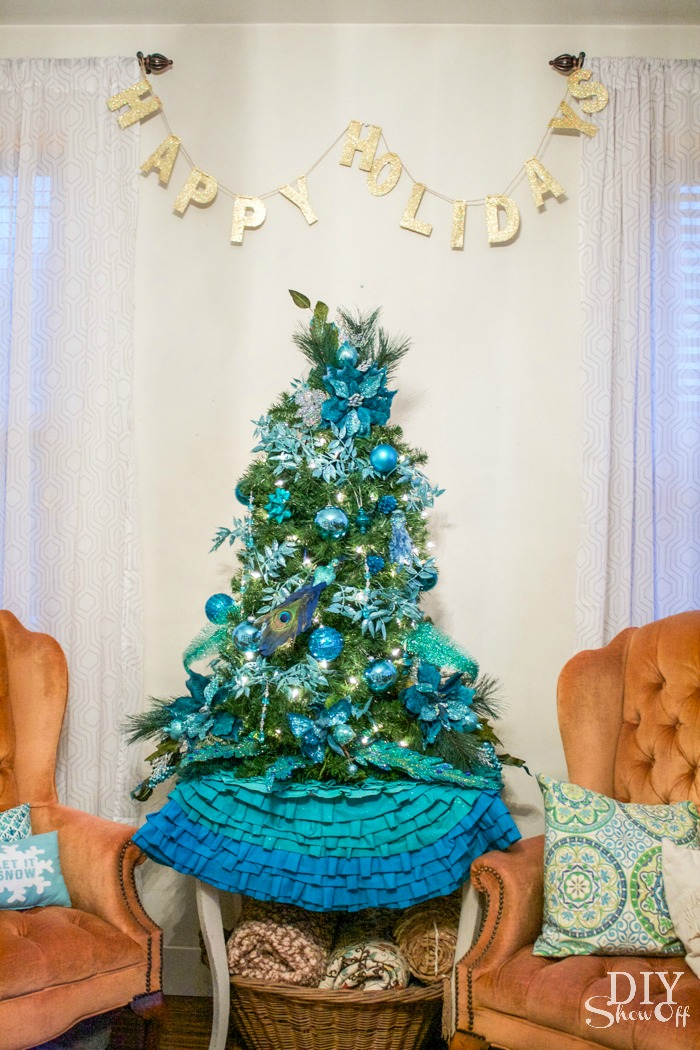 eclectic Christmas family room diyshowoff BSHT