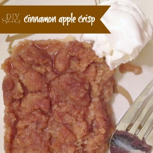 diyshowoff cinnamon apple crisp recipe