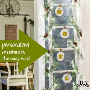 personalized ornaments @diyshowoff