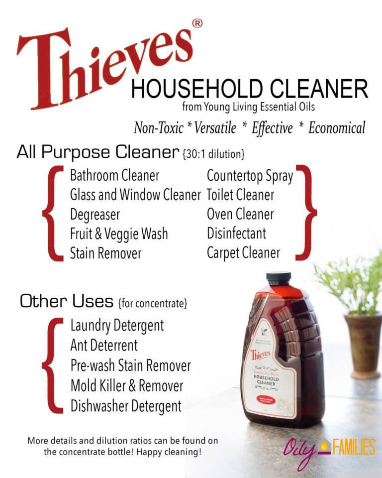 Thieves household cleaner, chemical free home - Young Living Essential Oils @diyshowoff Member #1836762 #youngliving #essentialoils