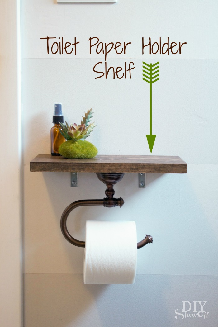 6 Ideas On How To Display Your Home Accessories: Toilet Paper Holder Shelf And Bathroom AccessoriesDIY Show