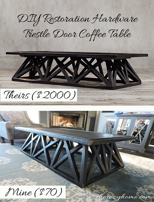 DIY coffee table at The Rozy Home blog