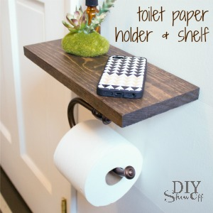DIY toilet paper holder and shelf @diyshowoff