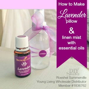 How to Make lavender pillow and linen spray @diyshowoff wool dryer balls and essential oils @diyshowoff #oilyfamilies