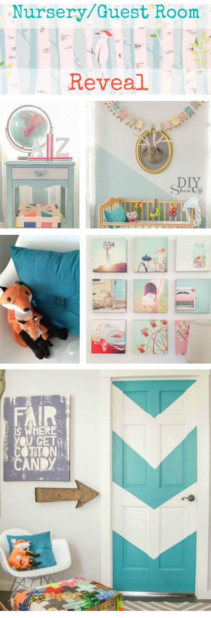 combined nursery/guest room @diyshowoff