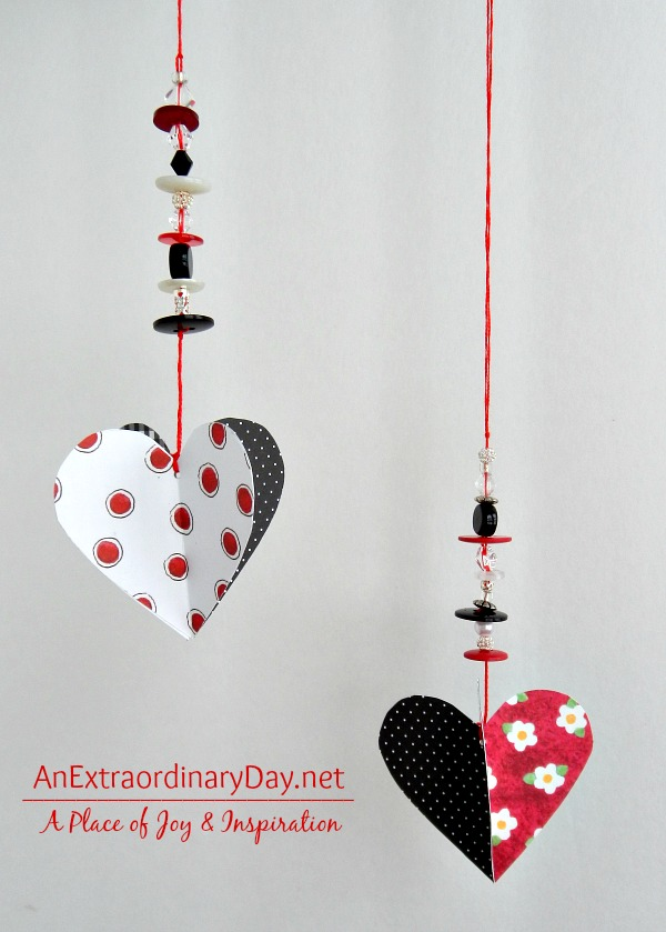 3d beaded hearts @anextraordinaryday blog