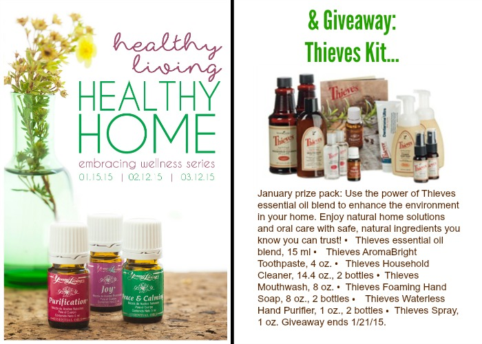 Thieves Essential Oil Kit giveaway @diyshowoff Jan. 15 through Jan. 21, 2015 #oilyfamilies