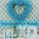 Valentine ribbon wreath