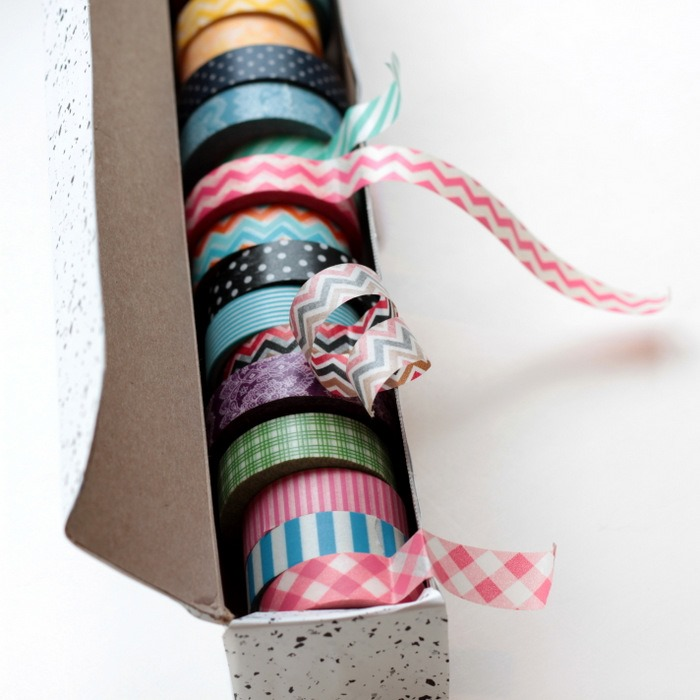 Wax Paper Box to Washi Tape Dispenser via homework