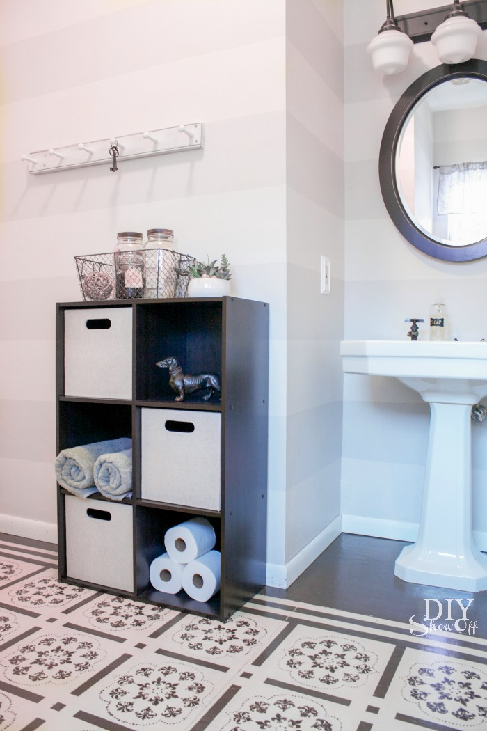 bathroom storage shelves