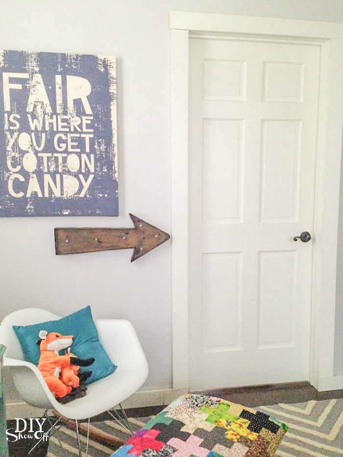 chevron color block door tutorial @diyshowoff