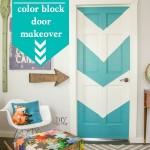 color block door makeover @diyshowoff