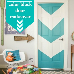 color block door makeover @diyshowoff
