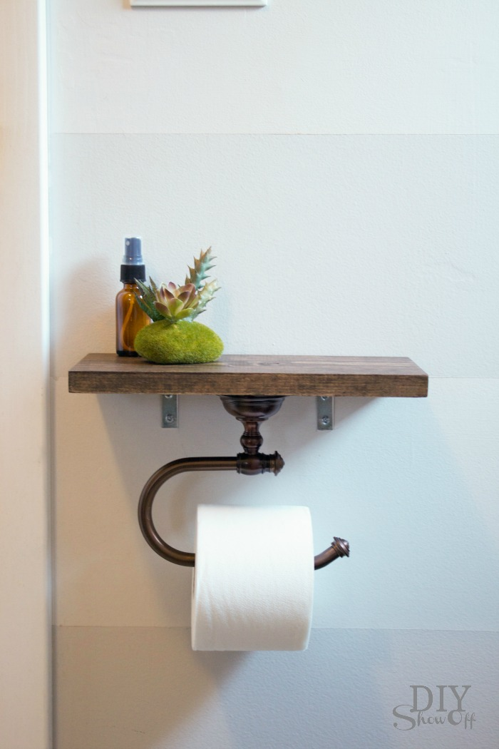 Toilet Paper Holder Shelf and Bathroom AccessoriesDIY Show ...
