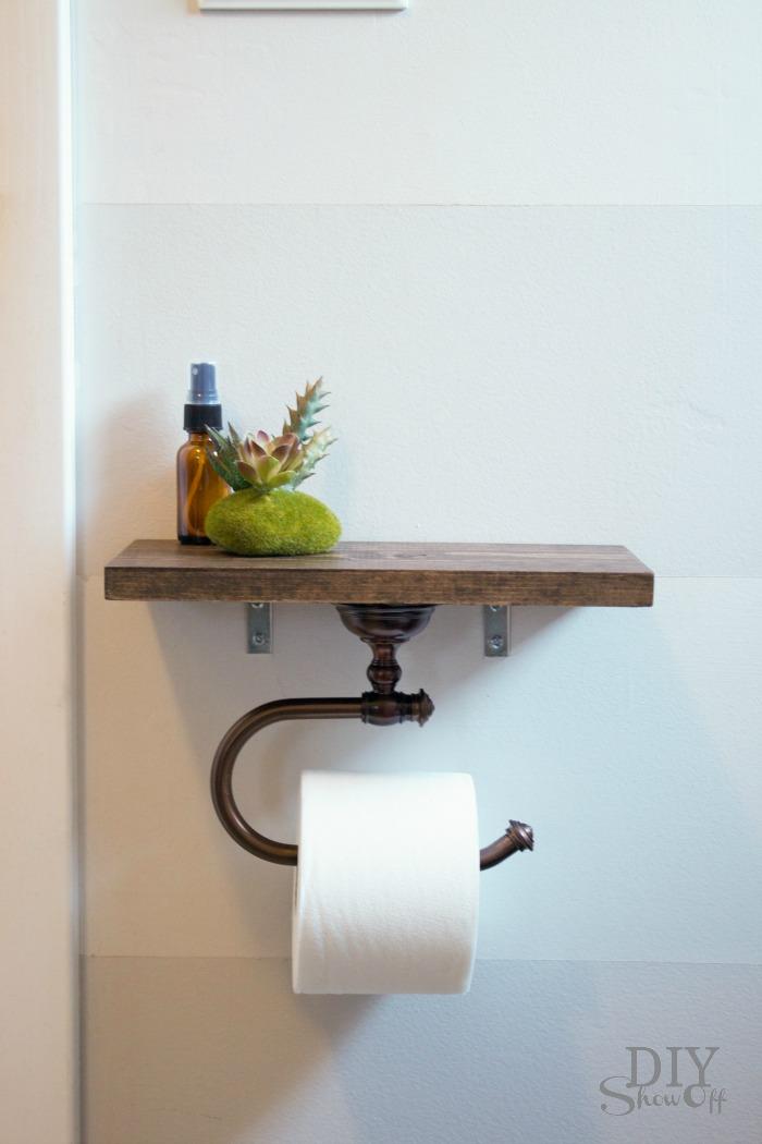 Toilet paper holder shelf and bathroom accessoriesdiy show