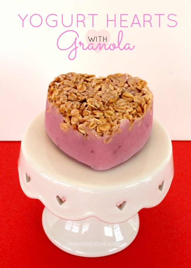 frozen yogurt hearts with granola @ohmy-creative