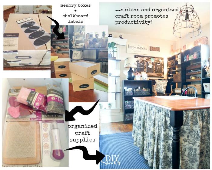 organized craft room @diyshowoff