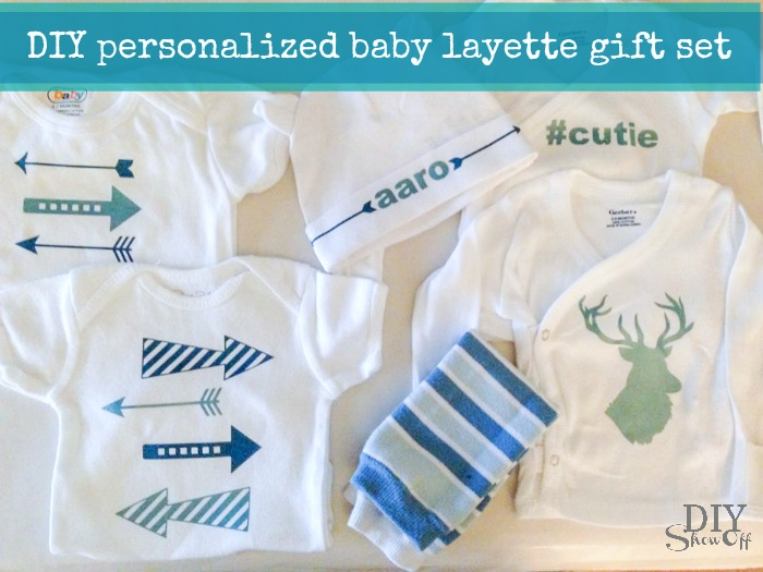 DIY personalized baby layette gift set @diyshowoff