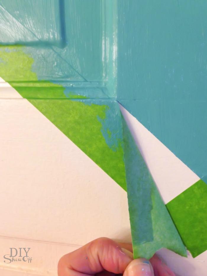 chevron color block door tutorial @diyshowoff