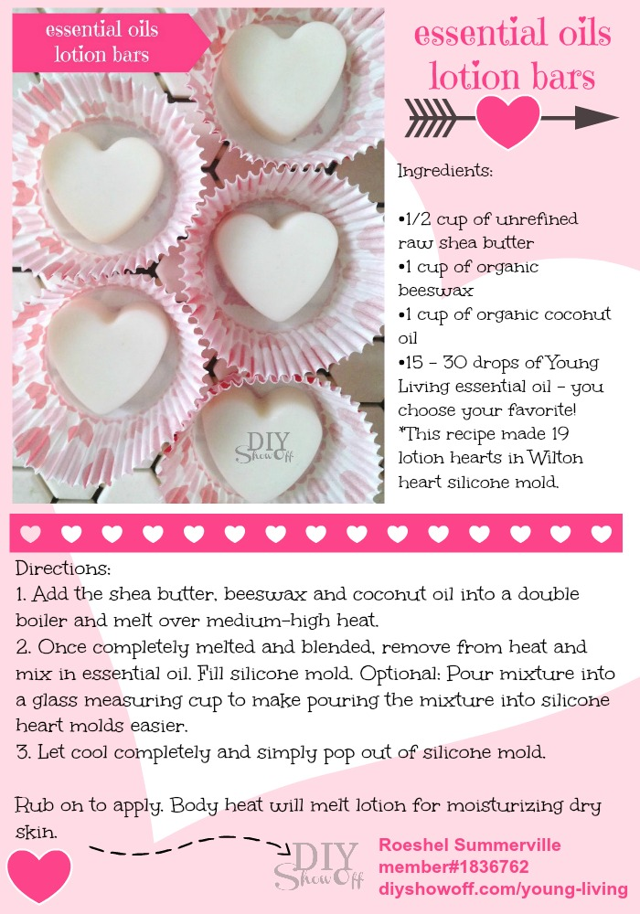Essential Oil Lotion Hearts {Embracing