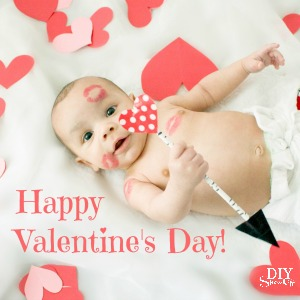 Happy Valentine's Day baby photo 2015 from @diyshowoff