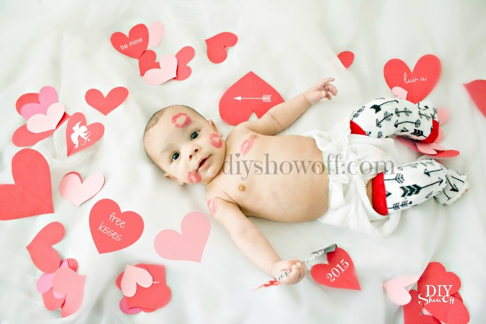 Valentine's Day baby photo 2015 @diyshowoff #clubfeet