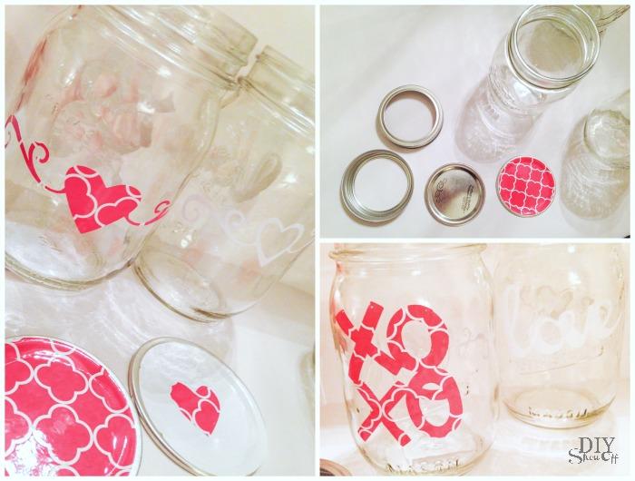 Valentine mason jars @diyshowoff