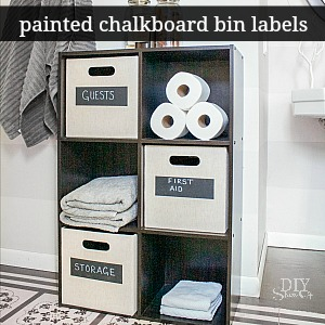 DIY painted chalkboard labels on storage cubes @diyshowoff #FrogTape