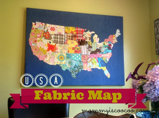 fabric usa map @mommyiscoocoo