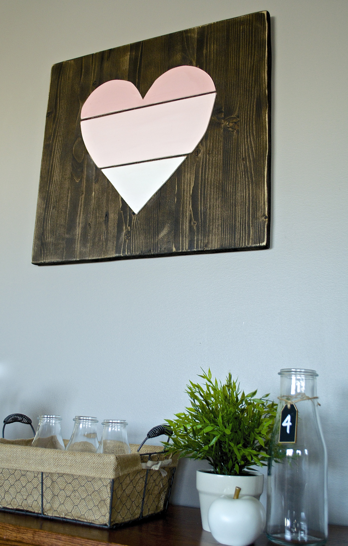 ombre heart @thehatchedhome