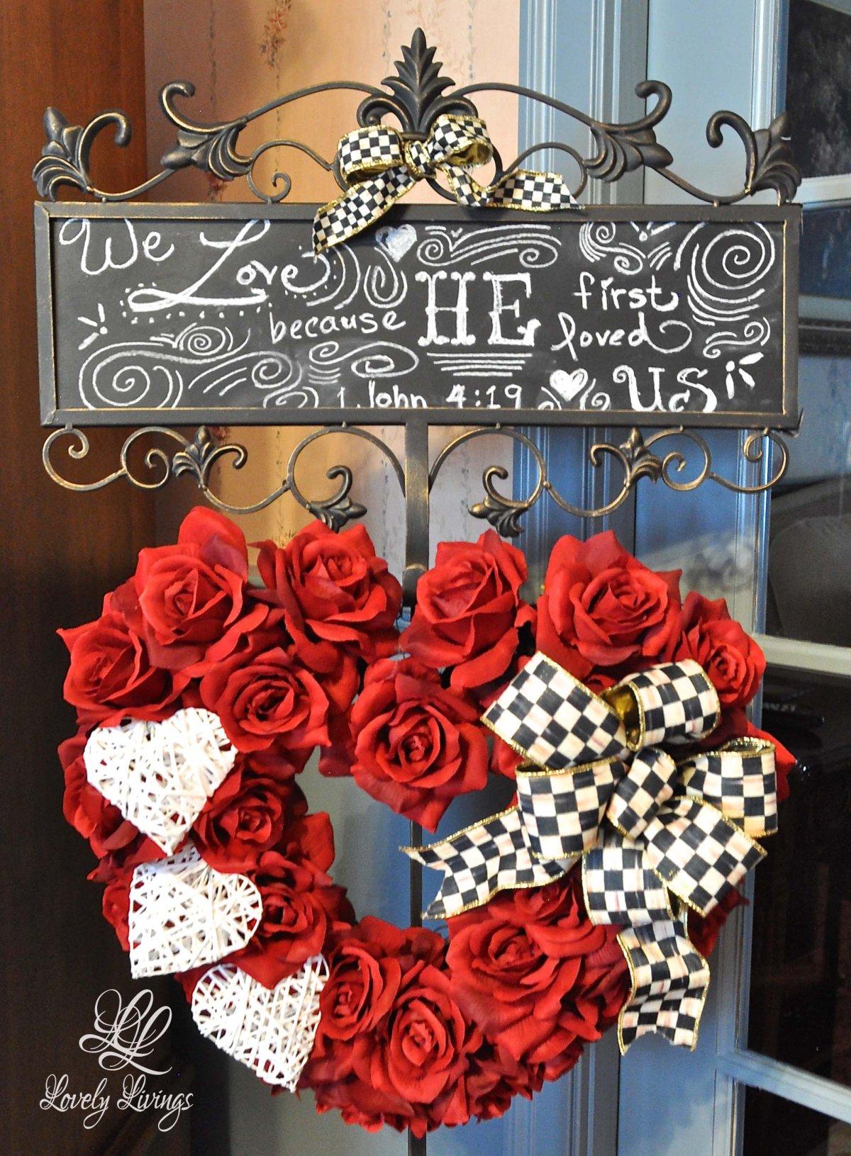 valentine wreath @lovelylivings