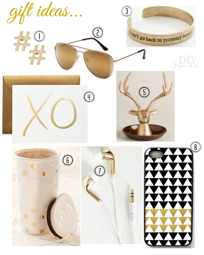 gold gift ideas @diyshowoff