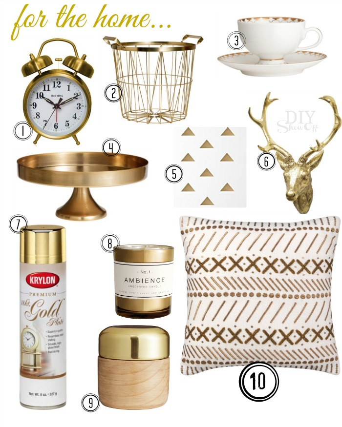gold home decor trend @diyshowoff