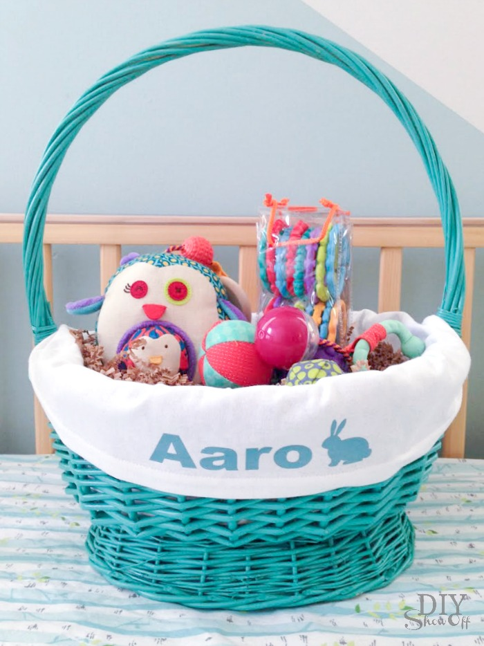Easy diy personalized easter basket linerdiy show off diy diy personalized easter basket liner tutorial diyshowoff negle Image collections