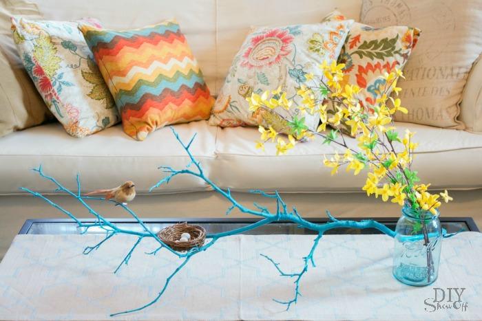 spring twig centerpiece tutorial @diyshowoff