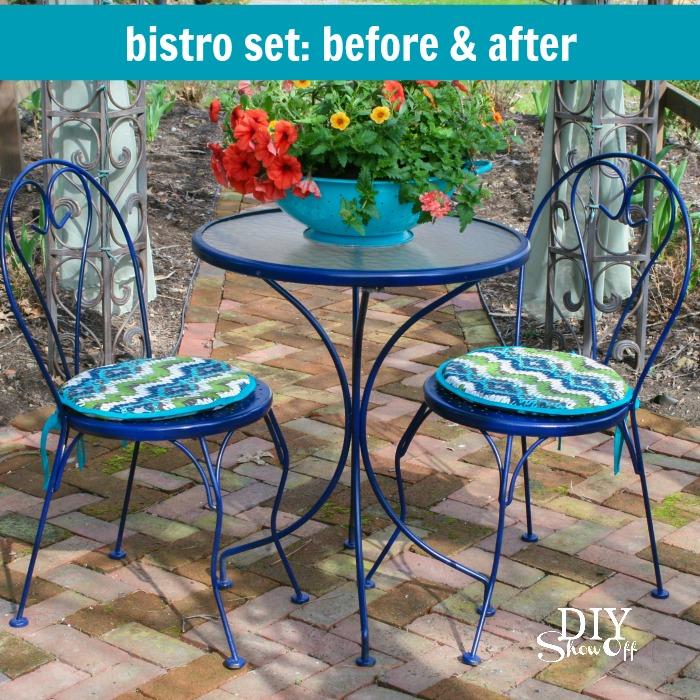 Outdoor Bistro Set Before and AfterDIY Show Off DIY Decorating