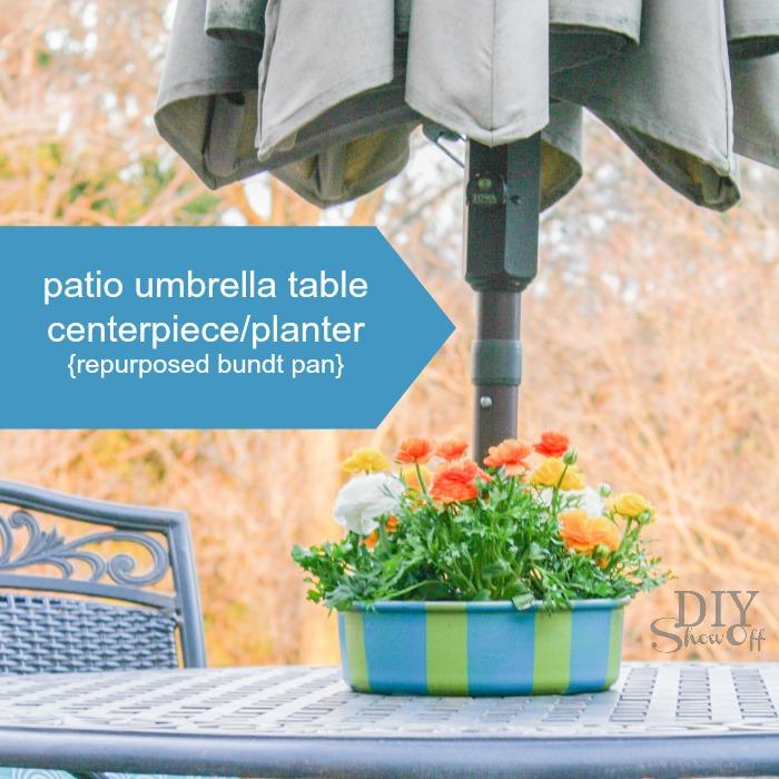Top Patio Umbrella Table Planter Centerpiecediy Show Off Diy Ib33