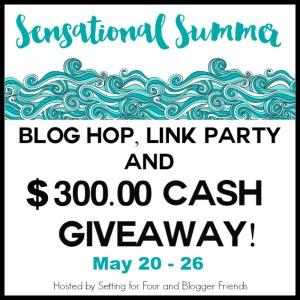 sensational summer blog hop, giveaway and link party @diyshowoff