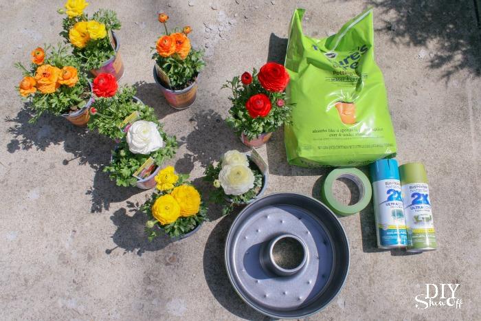 Patio Umbrella Table Centerpiece Planter Tutorial Diyshowoff Diy