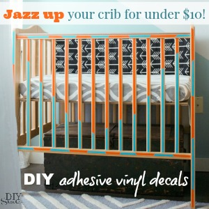 DIY crib vinyl decals tutorial @diyshowoff