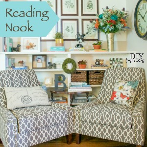 tips for creating a comfortable functional reading nook @diyshowoff @SauderUSA #puttogether