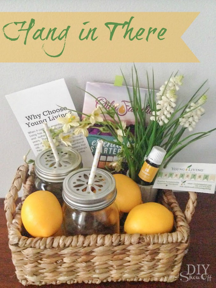 Essential oil gift basket ideas blog hopdiy show off diy printable gift tag negle Choice Image