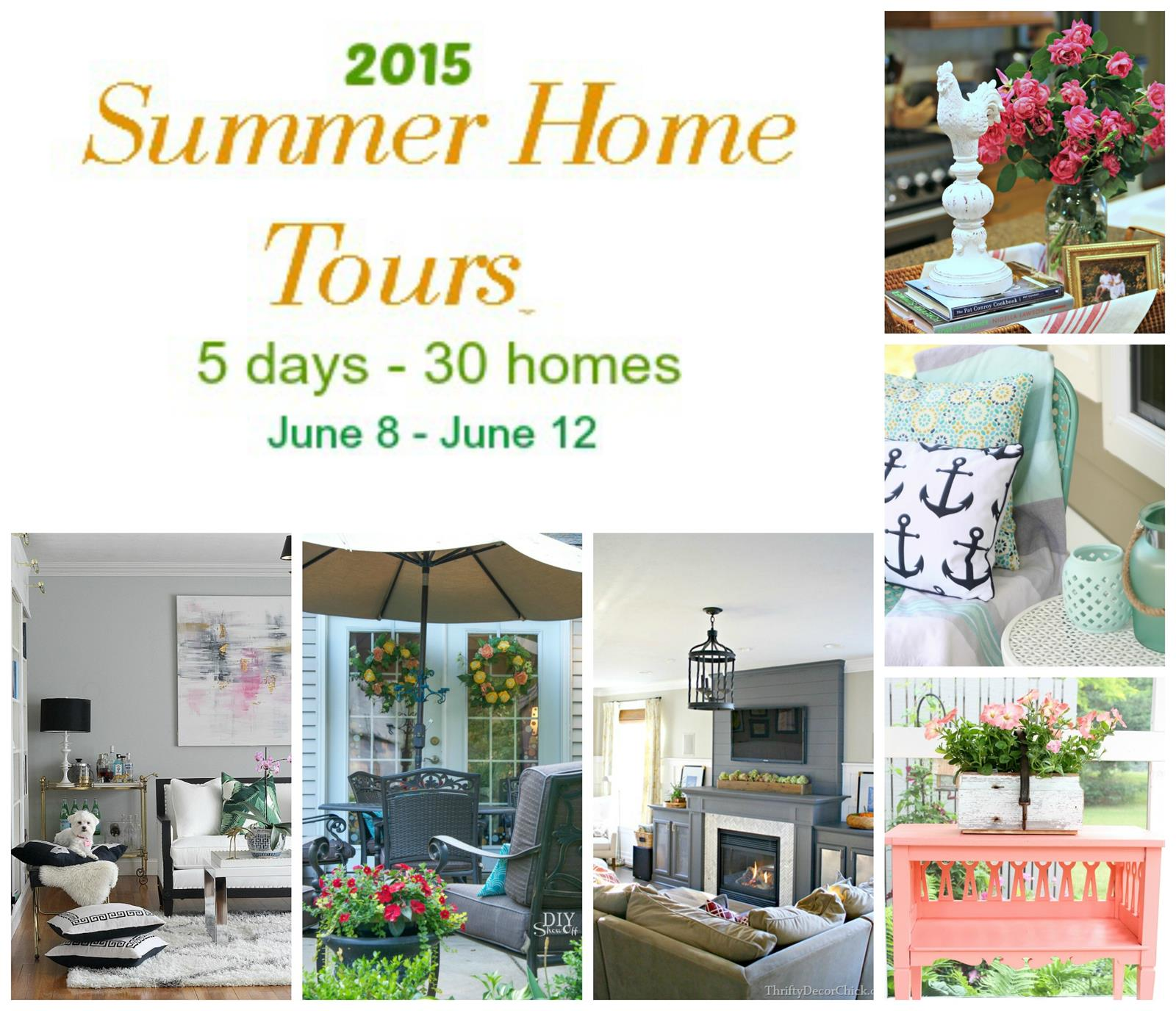Summer Home Tours Blog Hop @diyshowoff