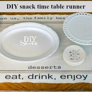 snack time table runner tutorial @diyshowoff