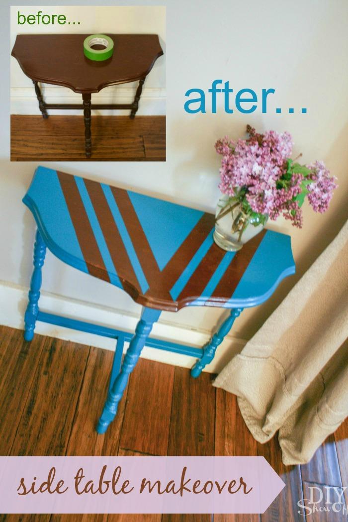 diyshowoff side table makeover