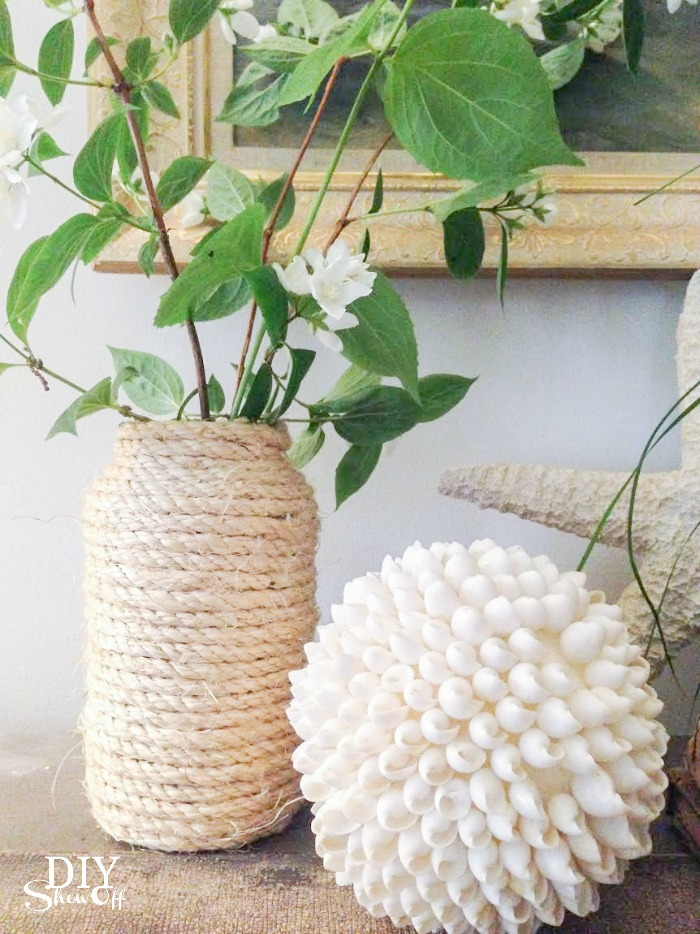 summer beach mantel @diyshowoff