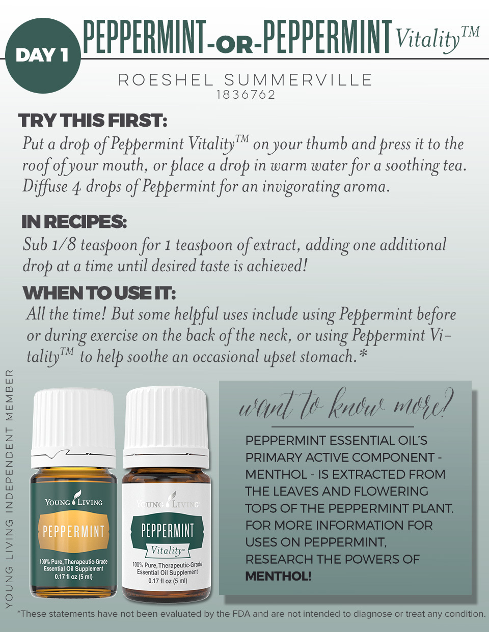 peppermint Young Living Essential Oils @diyshowoff Member #1836762 #youngliving #essentialoils