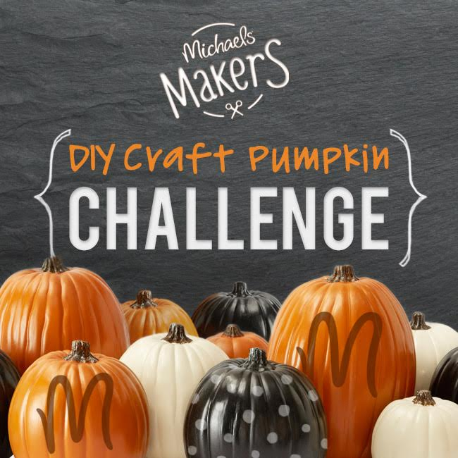 DIY craft pumpkin challenge @diyshowoff #michaelsmakers