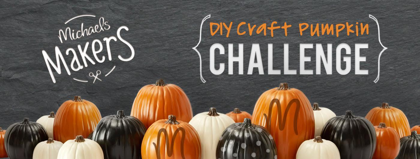 DIY craft pumpkin challenge @diyshowoff #michaelsmakers